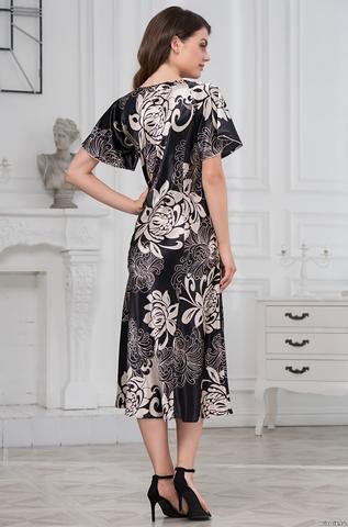 Длинная женская сорочка MIA-AMORE Da Vinci Да Винчи 8448 черная
