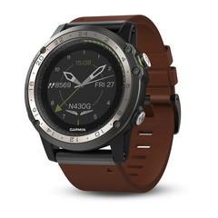 Умные авиационные часы Garmin D2 Charlie 010-01733-31 (кожа)
