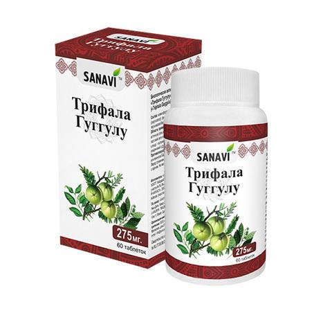 Трифала Гуггулу SANAVI 275 мг, 60 таб.