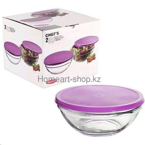 Салатник с розовой крышкой 172 mm 2*12 ;