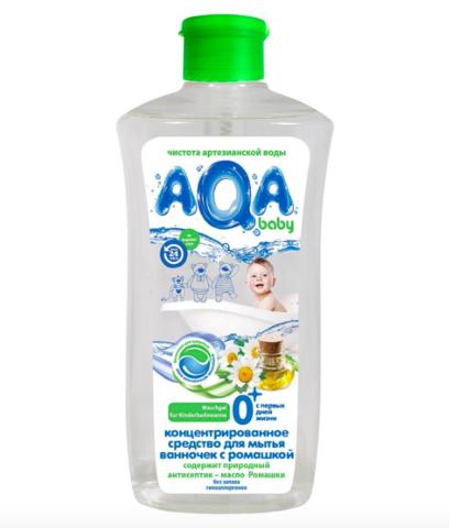 AQA baby. Концентрированное средство для мытья ванночек с ромашкой, 500 мл