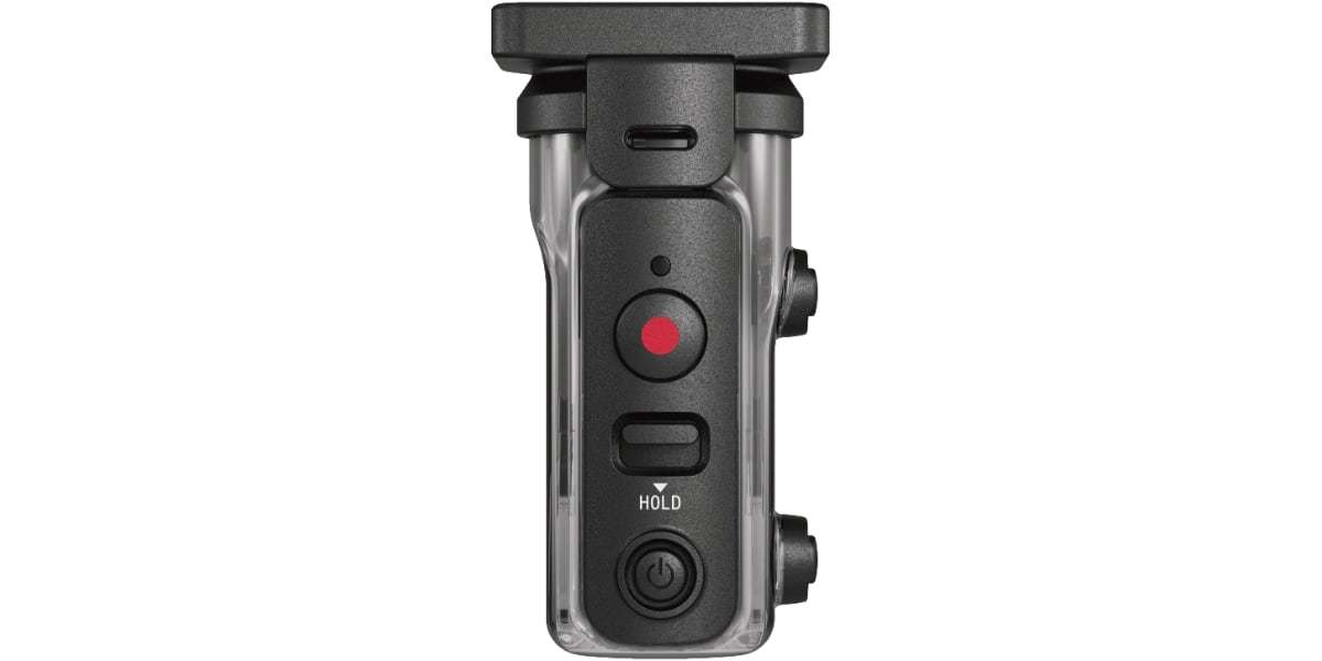 Экшн-камера Sony HDR-AS300R вид сверху в боксе