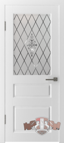Дверь Владимирская фабрика дверей Честер 15ДО0, стекло белое, цвет белая эмаль, остекленная