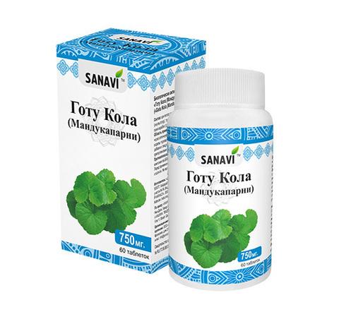 Готу Кола SANAVI 750 мг, 60 таб.