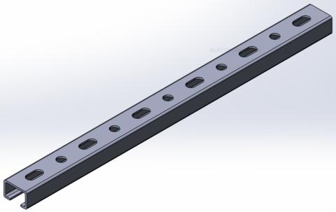Траверса монтажная С-образная 20х30мм из оцинкованной стали (3м)