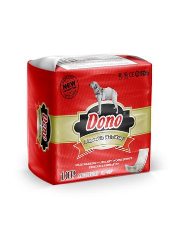 Dono одноразовые впитывающие пояса для кобелей размер M 10 штук