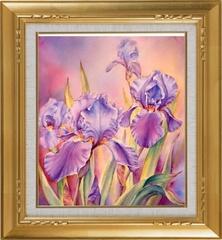 Ирисы - мозаичная картина, 10007