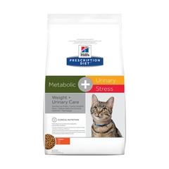 Hill's Prescription Diet Metabolic, Urinary Stress  сухой диетический корм для кошек при профилактике цистита, вызванного стрессом и способствует снижению и контролю веса, с курицей