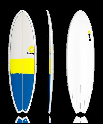 Серфборд TORQ 6'10'' Fish - New Classic (blue/yellow/gray)