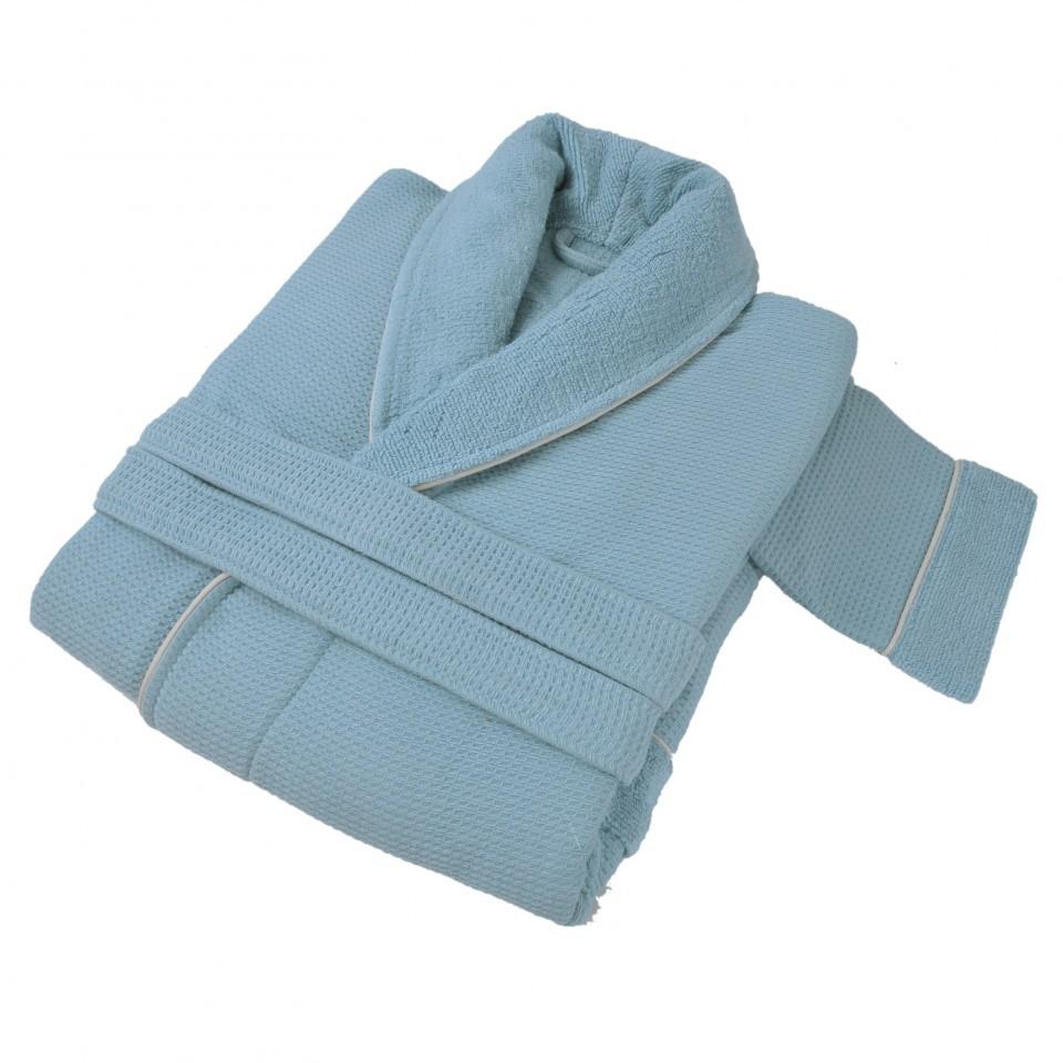 Элитный халат женский Tosya голубой от Hamam