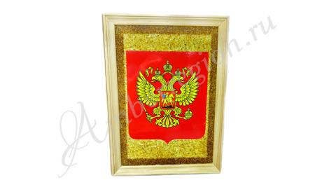 Янтарная картина Герб России