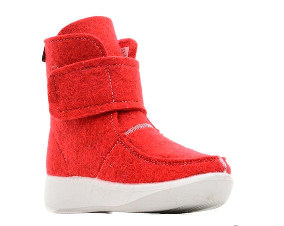 Валеная обувь Сапоги войлочные короткие красные 14523красн1.png