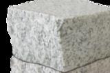 Гранитная брусчатка Мансуровский гранит Белая 100*100*100 Колотая