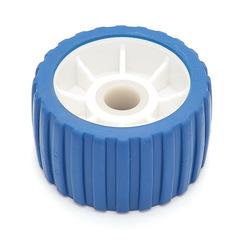 Колесо бортовое, пластмассовое, бело-синее