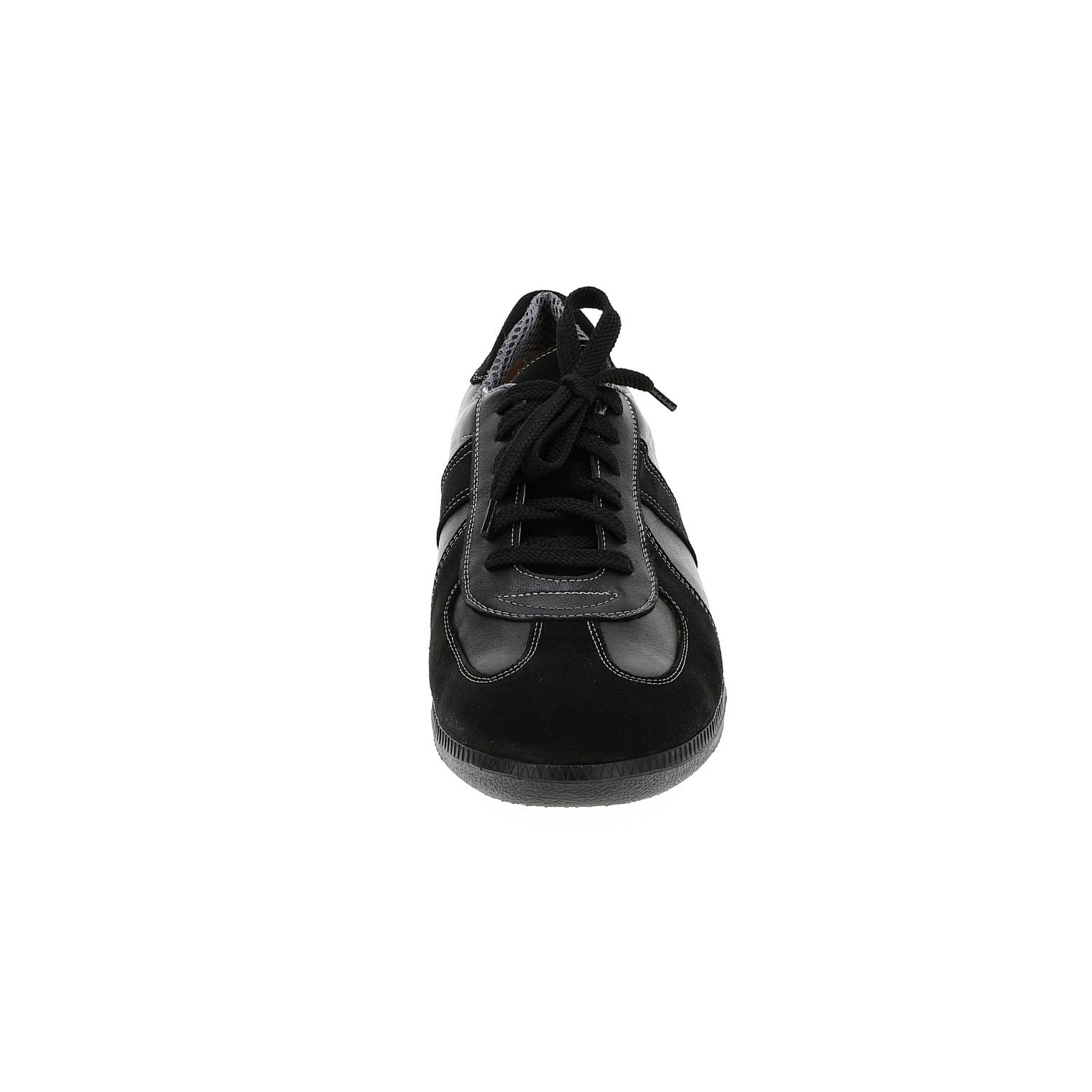 556396 Black полуботинки мужские больших размеров марки Делфино