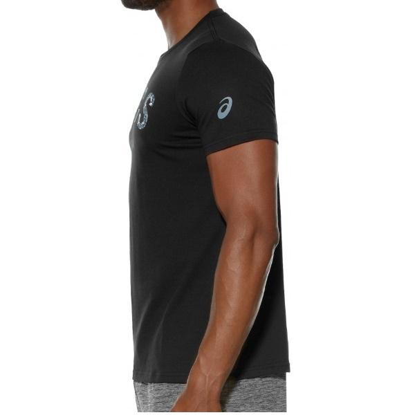 Мужская футболка для бега Asics Camou Logo SS Top (131529 0904) черная фото