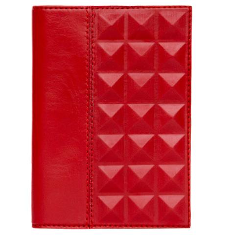 Обложка для паспорта «Геометрия» красная