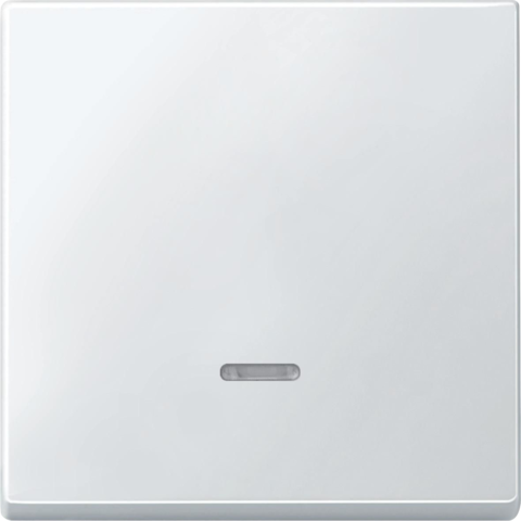 Выключатель одноклавишный проходной с подсветкой. Цвет Полярно-белый. Merten Antique/Artec. MTN3136-0000+MTN438019