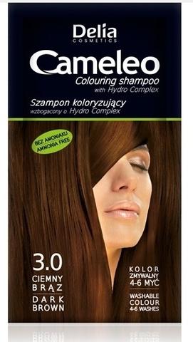 Delia Cosmetics Cameleo Оттеночный шампунь тон 3.0 темно-коричневый (саше 40мл)