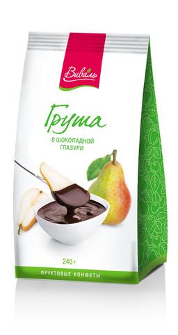 ВИВАЛЬ Груша в шоколадной глазури 240г