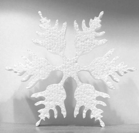 Снежинка из пенопласта С 1