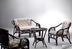 Комплект Старварт (Starwart) (Софа МК-6101-BR + 2 кресла МК-6100-BR + кофейный столик МК-6102-BR)) (МК-6111-BR)