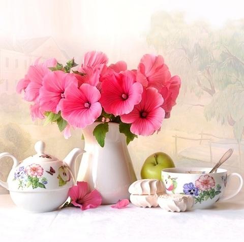 Нежное утро - мозаичная картина, 404004