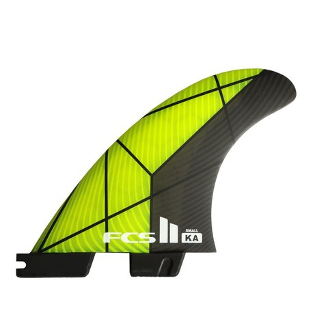 FCS II KA PC Tri Retail Fins Grey/Yellow Medium