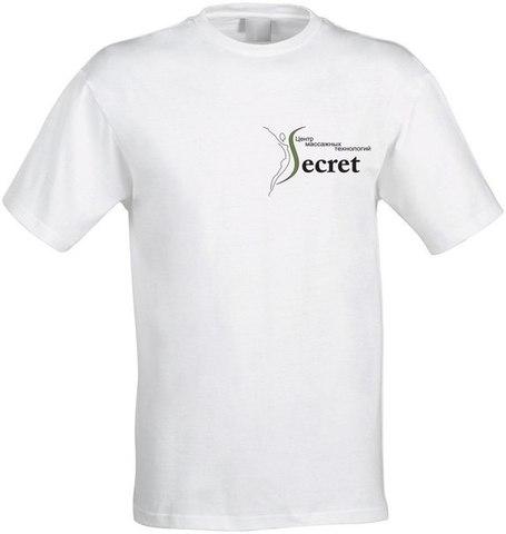 Футболка с логотипом Школы массажа Secret