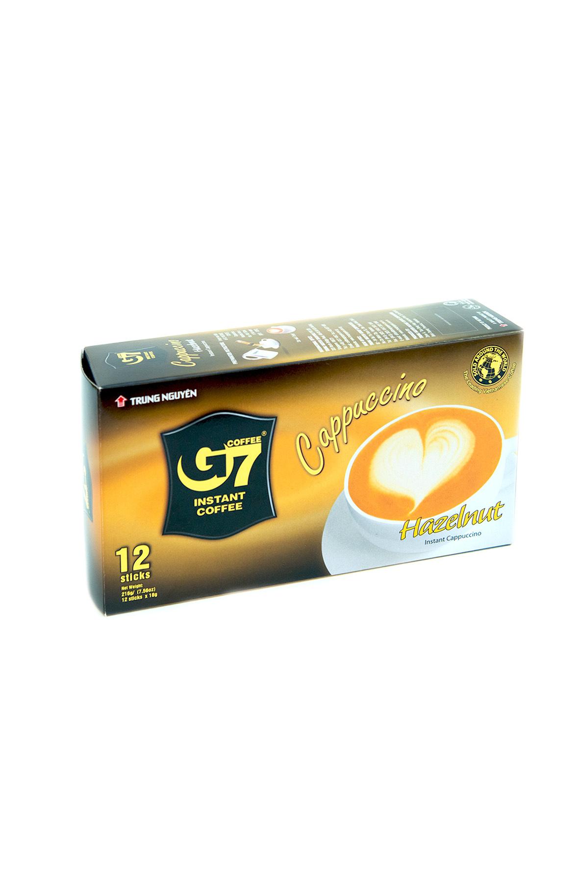 Растворимый Trung Nguyen G7 Каппучино Лесной Орех, 12 пакетиков