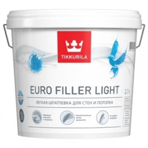 Тиккурила Евро Филлер легкая шпатлевка для стен и потолков