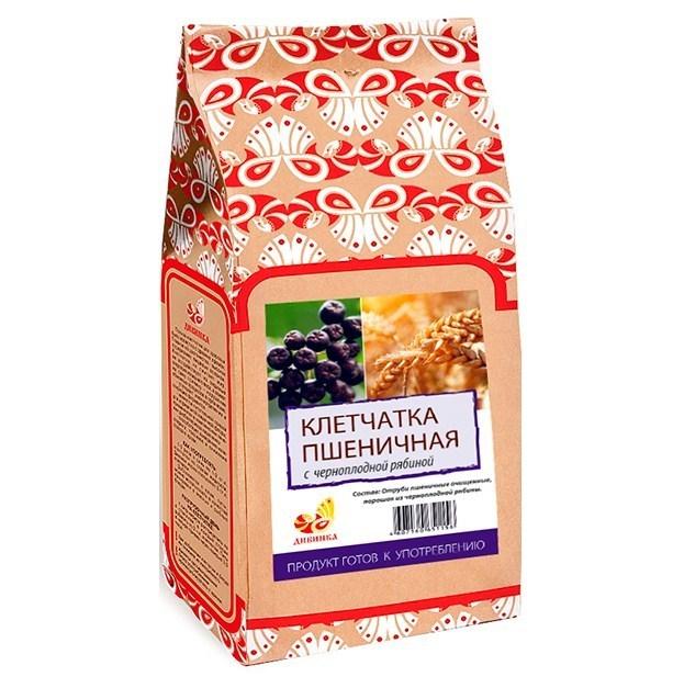 Клетчатка пшеничная, Дивинка, Черноплодная рябина, бумажный пакет, 300 г.