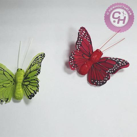 Бабочка перьевая, 5*3,5 см, 1 шт.