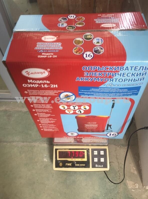Опрыскиватель электрический ранцевый Комфорт (Умница) ОЭМР-16-2Н купить
