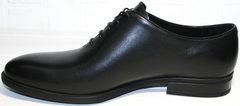 Мужские дорогие туфли Ikos 006-1 Black