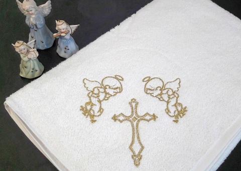 Крестильная пеленка Два ангела (100/100см)