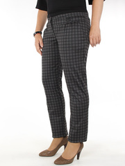 152 брюки женские, серо-черные