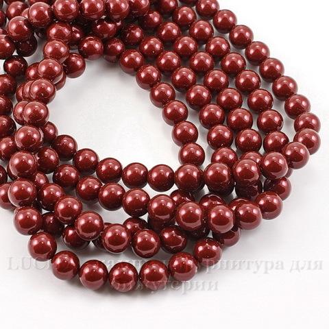5810 Хрустальный жемчуг Сваровски Crystal Bordeaux круглый 6 мм, 5 штук ()