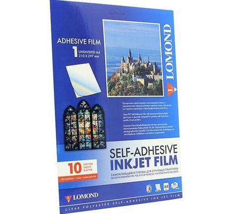 Самоклеящаяся плёнка Lomond, A4, (210 x 297 мм), прозрачная, 10 листов, неделённая (1708411)