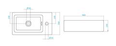 Раковина мебельная Акватон Эрис 46 схема