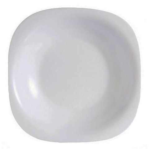 Тарелка суповая Luminarc Carine White квадратная 21 см (H3667)