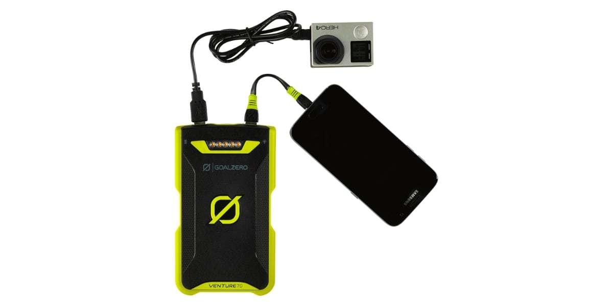 Зарядное устройство Goal Zero Venture 70 Solar Recharger (micro-USB/lightning) зарядка двух устройств