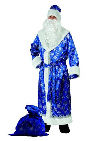 Дед Мороз синий (сатин) Аренда 1 сутки