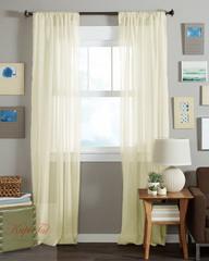 Длинные шторы. Тюль вуаль Classic Voile-2 (сливочный)