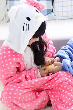 """Детские пижамы кигуруми """"Hello Kitty"""" (Горошек) хэлоу_китти_горошек_десткий.jpg"""