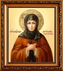 Архела́я Салернская дева преподобномученица. Икона на холсте.