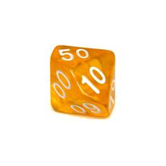 Куб D% прозрачный: Желтый
