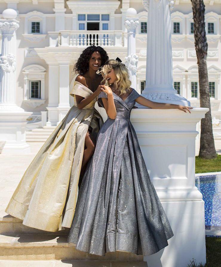 Tarik Ediz 50700 Длинное пышное платье от дизайнера Tarik Ediz. Коллекция 2020