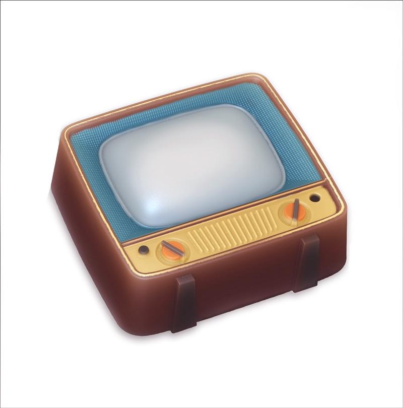 Телевизор, форма пластиковая