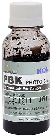 Чернила Dctec для Canon Pixma PRO, пигментные фото черные (Photo Black), 100 мл (Серия 193650)